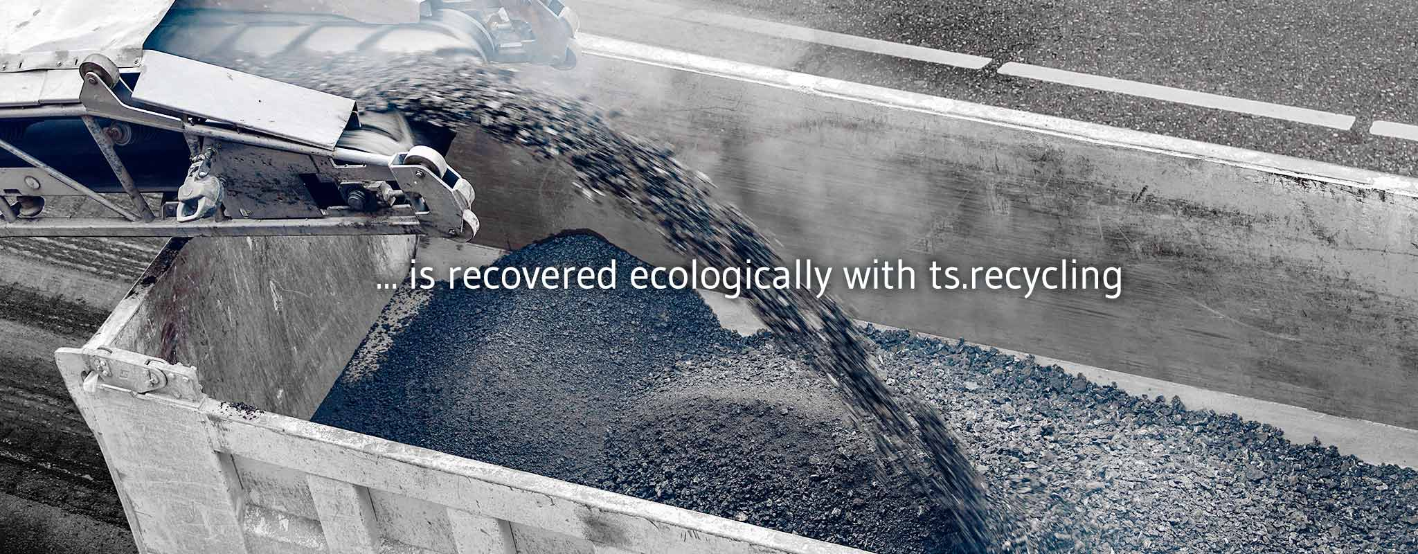 Tar contaminated road rubble recycling alternatives with ts.recycling
