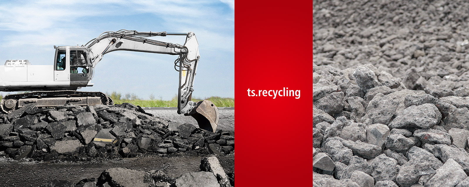 Ecologically viable handling of road demolition waste containing tar